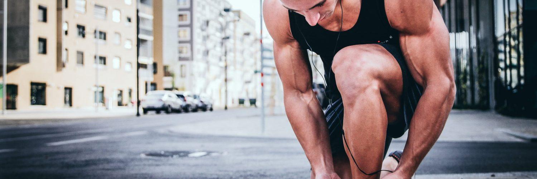 sportowiec kolano trening