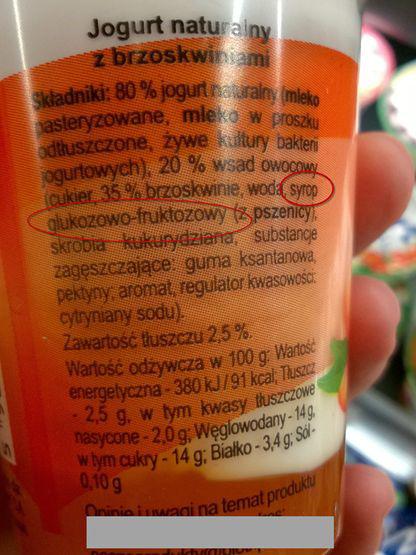 Jogurt brzoskwiniowy